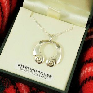New Sterling Silver Celtic Ireland Torc Necklace